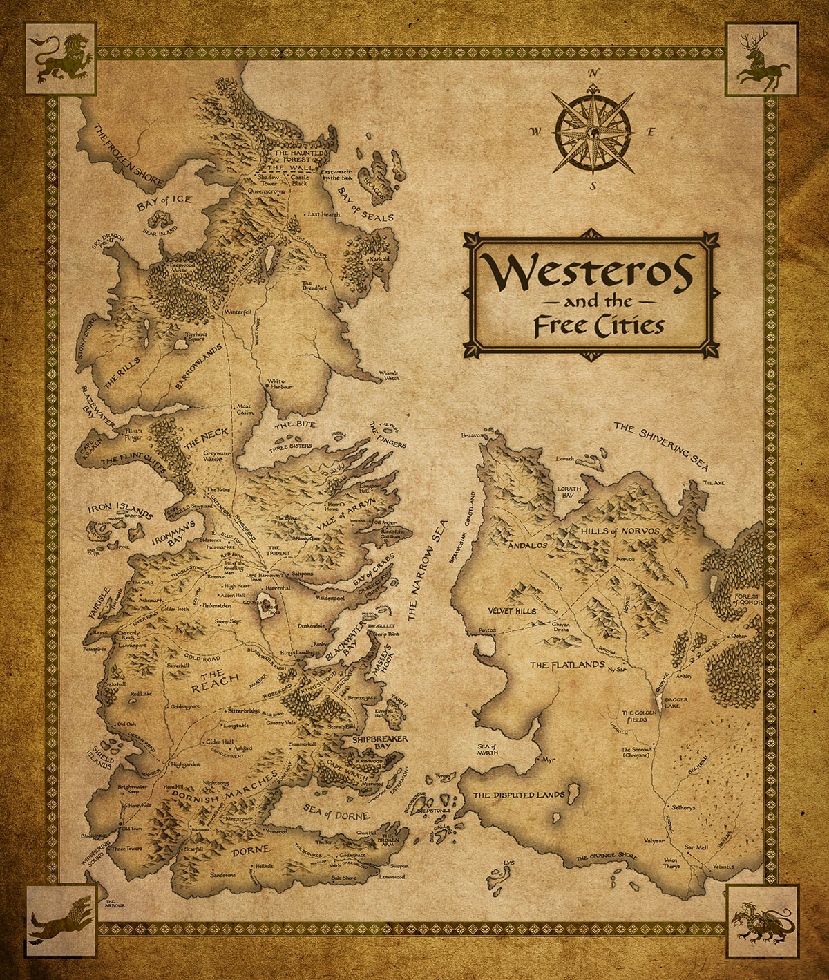 The map of Westeros