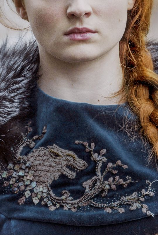 Embroidery on Sansa Stark's dress
